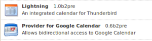 Lightning und Provider for Google Calender 64bit