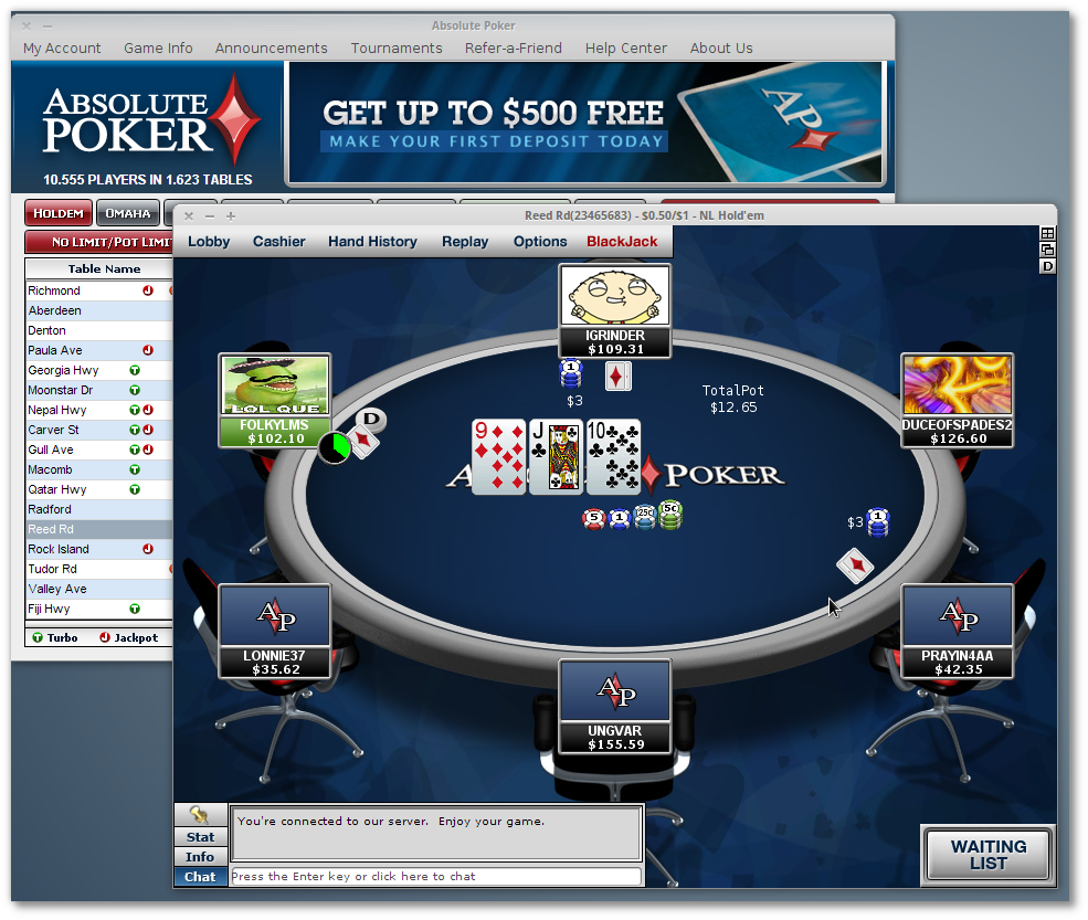 Absolute poker no download mac