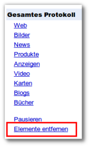 Google Webprotokoll: Webprotokoll