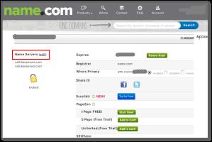 name.com Nameserver wechseln