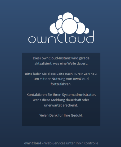 owncloud Upgrade 6 to 7